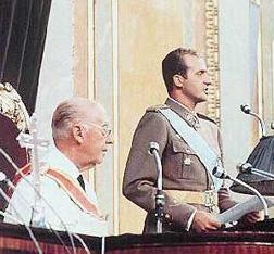 El rey y Franco